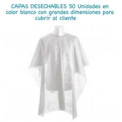 CAPAS DESECHABLES COLOR BLANCO