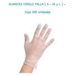 GUANTES VINILO caja 100 UNID