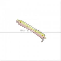 Bigudies de plástico amarillo / rosa 12 unidades - EUROSTIL